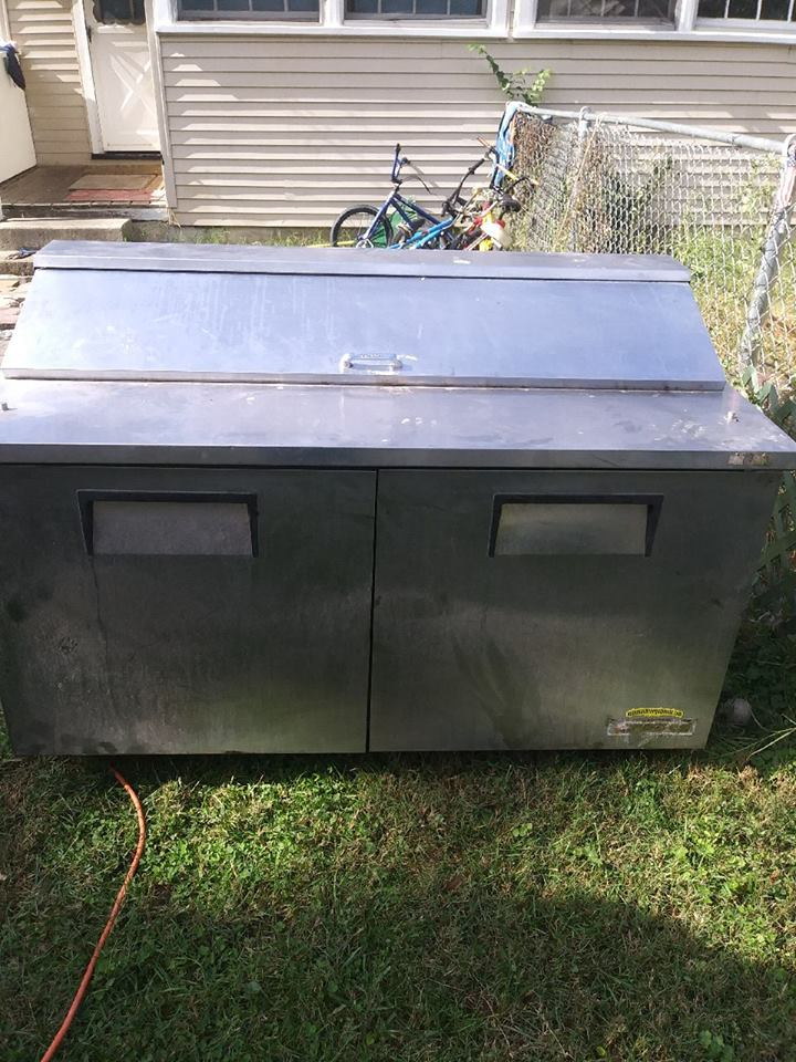 Used     Stainless Steel Bar-Type Refrigerator