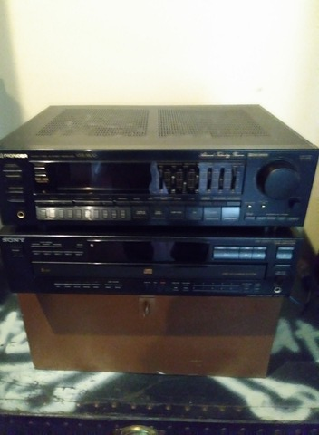 Used     400W Pioneer Receiver plus a Sony CD Changer