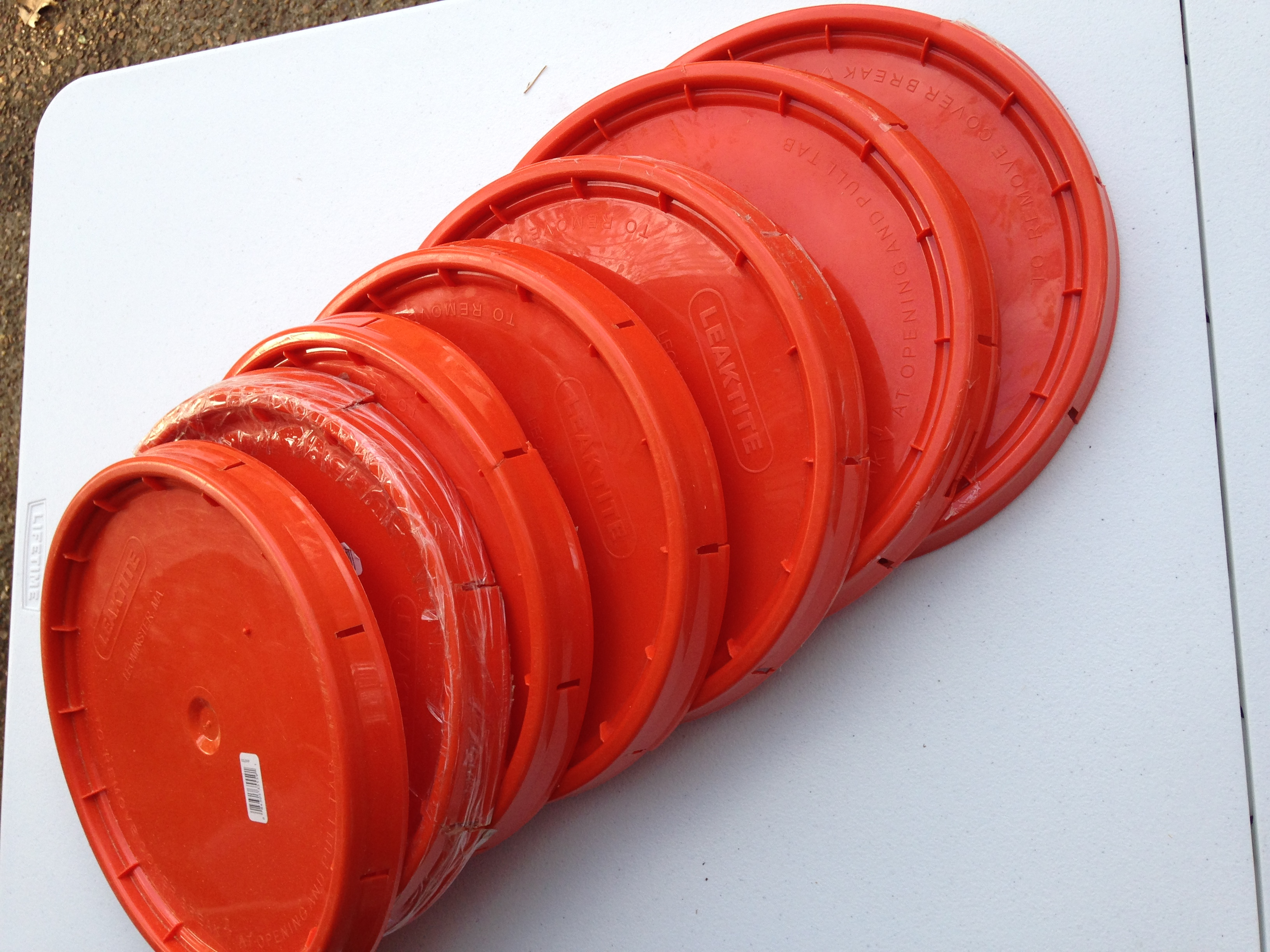 Used   Home Depot 5GLD ORANGE LID for 5GL HOMER PAIL  Set...