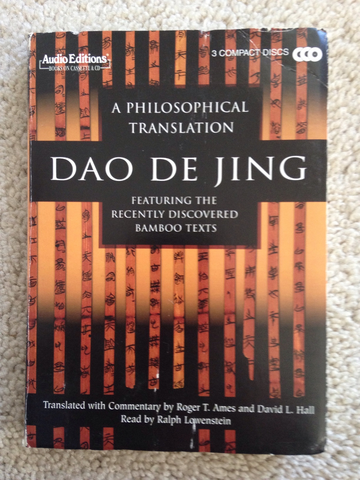Used   Audio Editions  A Philosophical Translation Dao De...