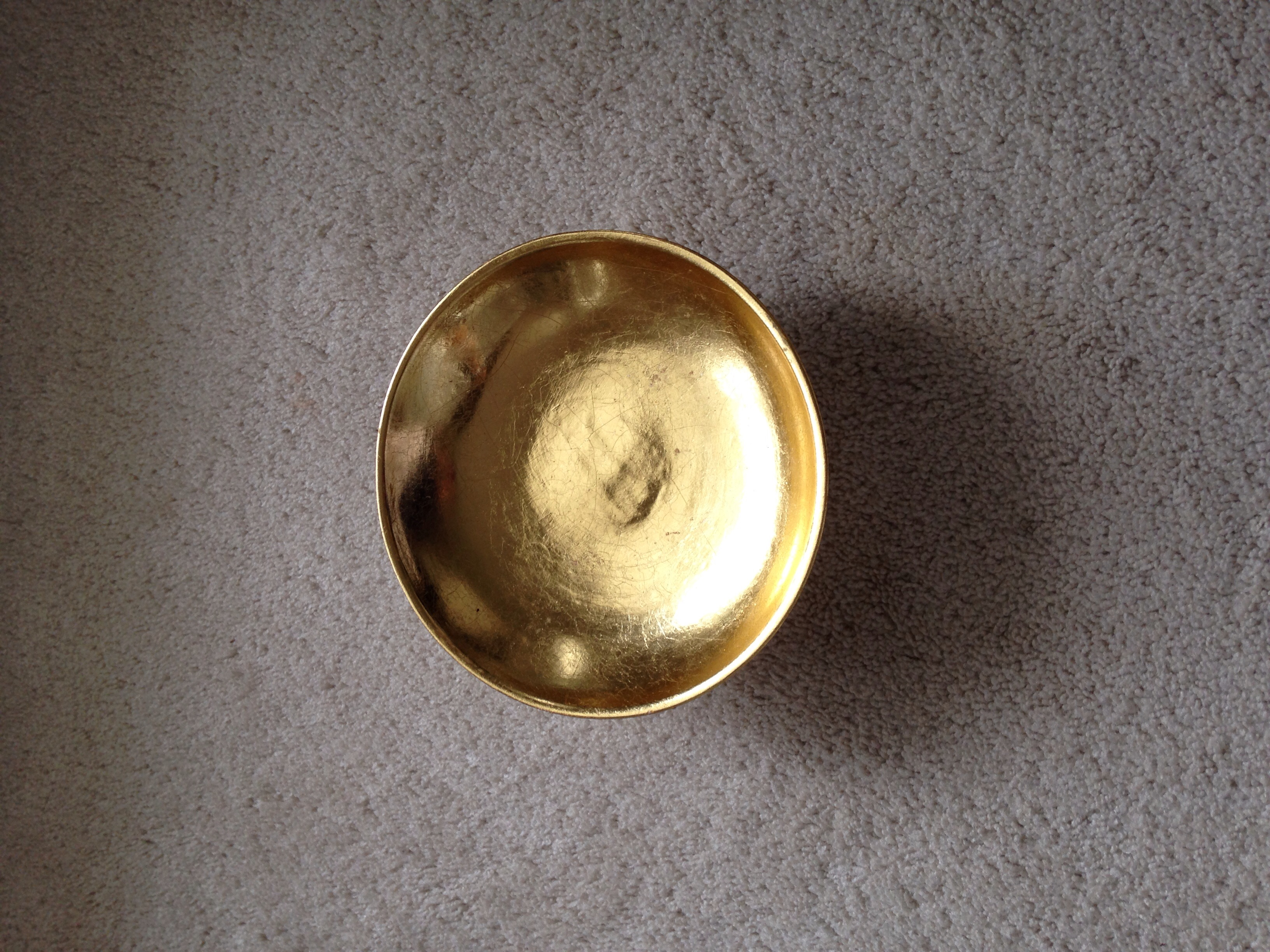 Used     Decorative Gold Plate