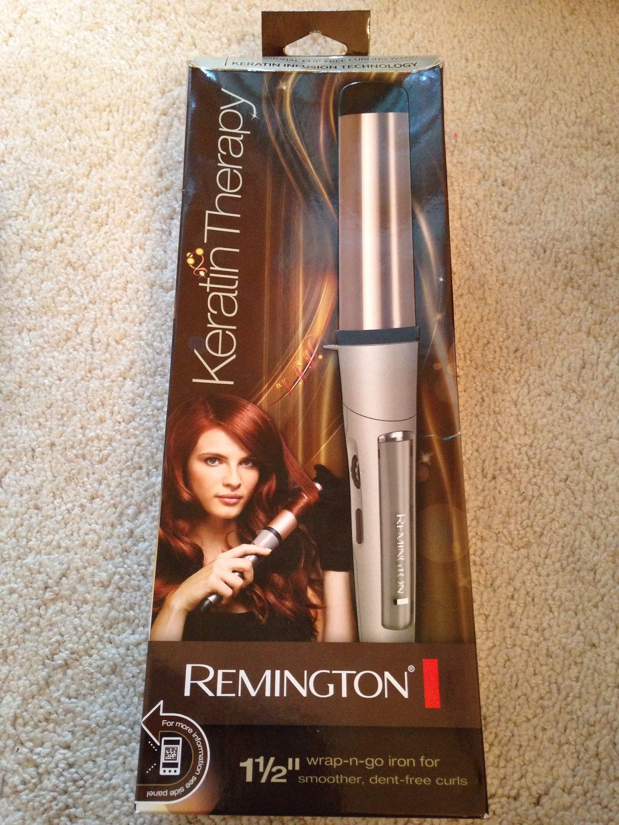 Like New Womens  Remington  Hair Curling Iron 1-1/2 Inch ...