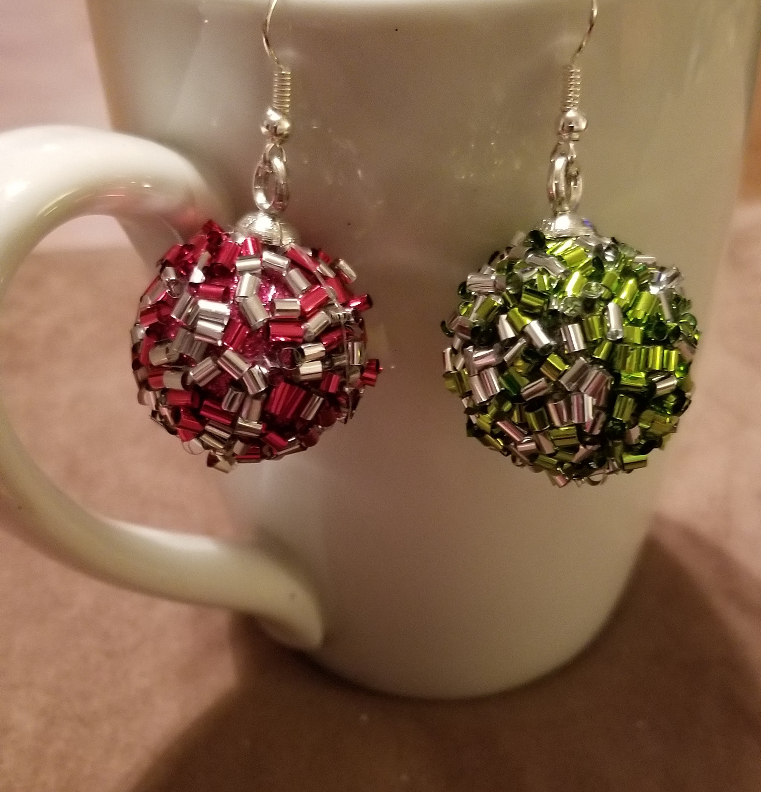 New Womens 2018 Handmade  Christmas bow earrings