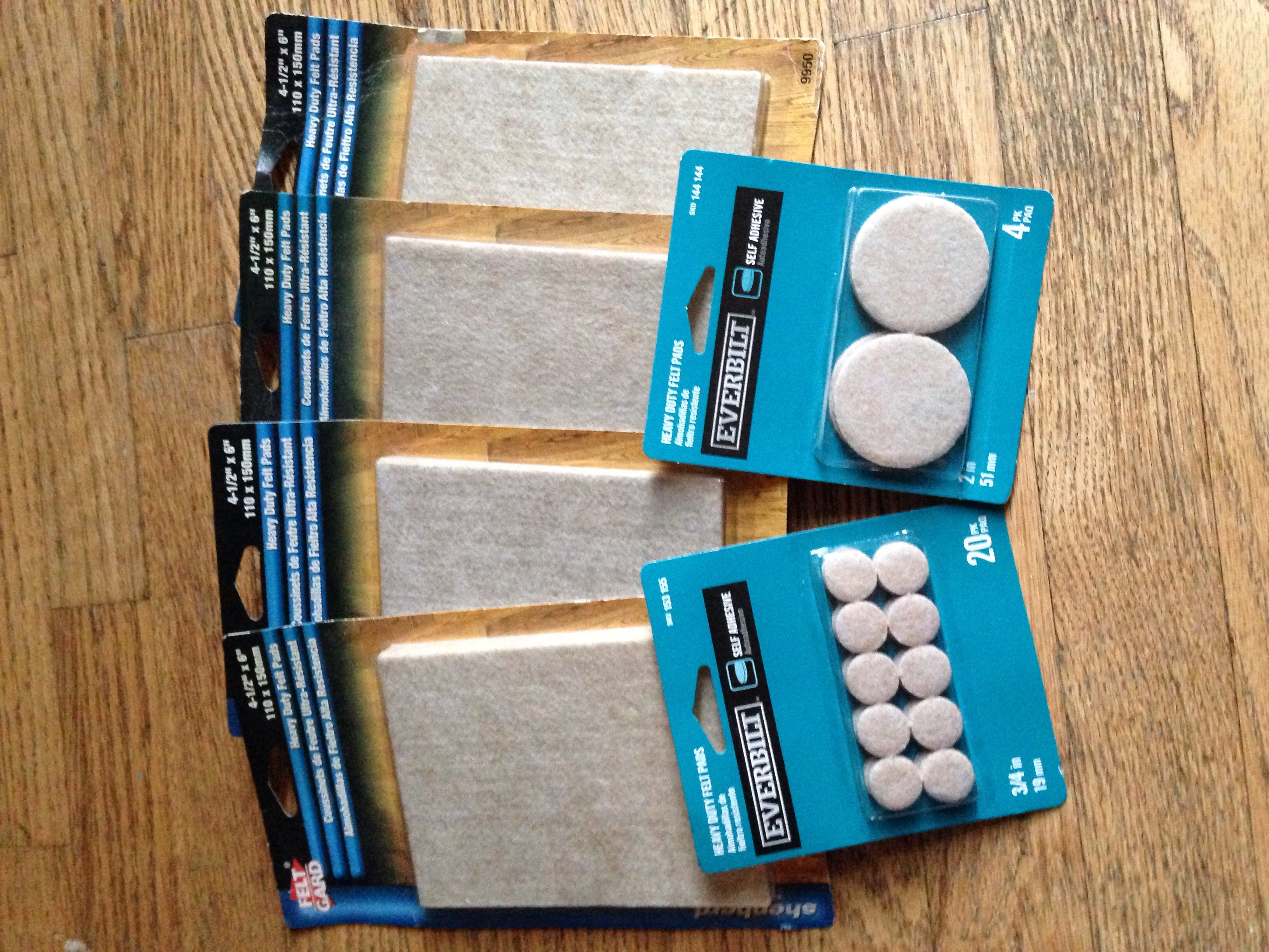 New     Heavy Duty Felt Pads Set