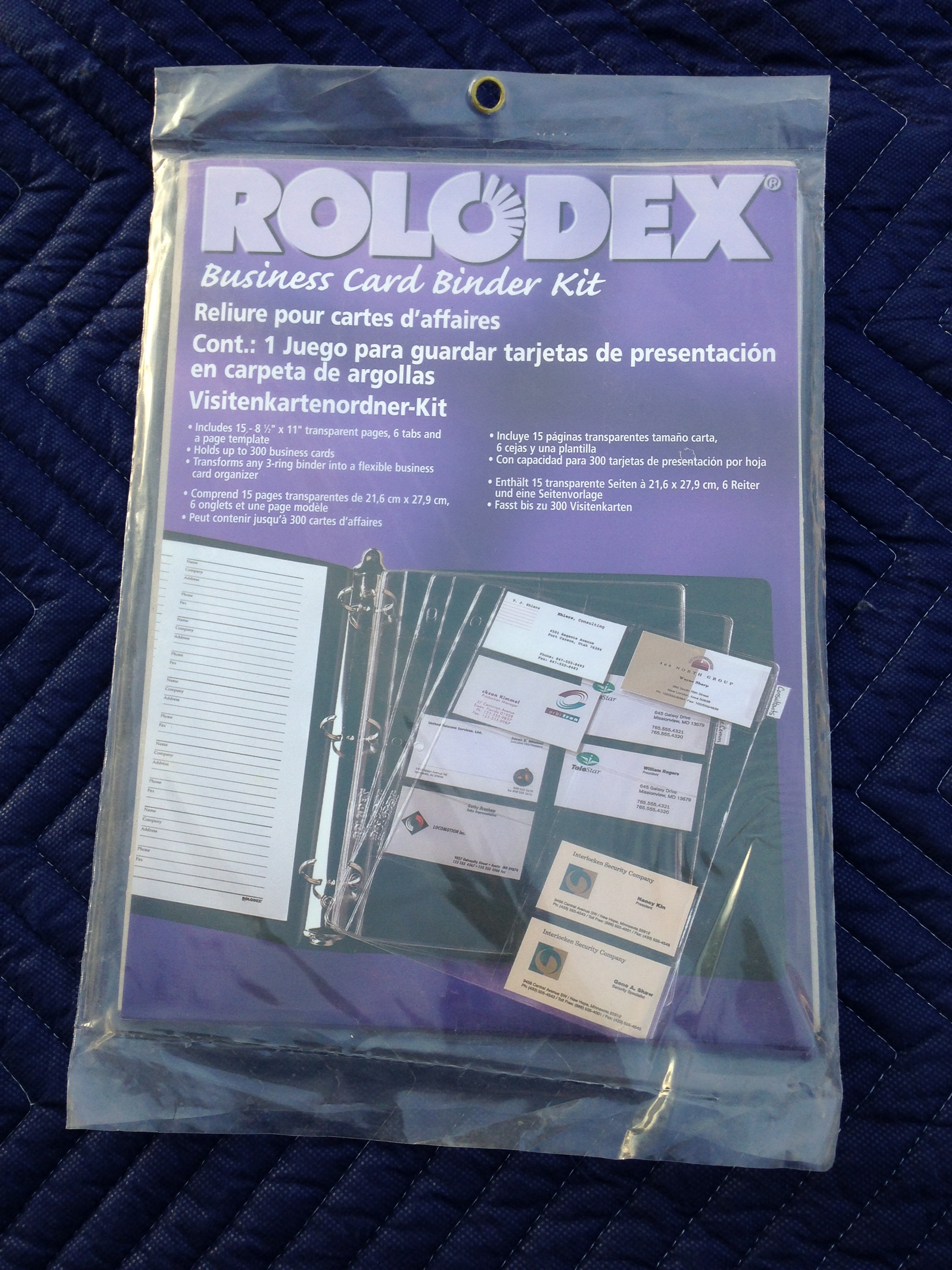 $3.00 New Rolodex Business Card Binder Kit Sale by Garaha | Free vMall ℠