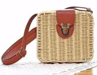 New Womens    Mini Woven Rattan Bag