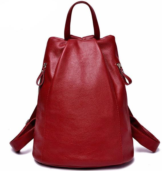 New Womens    Genuine Leather Backpack