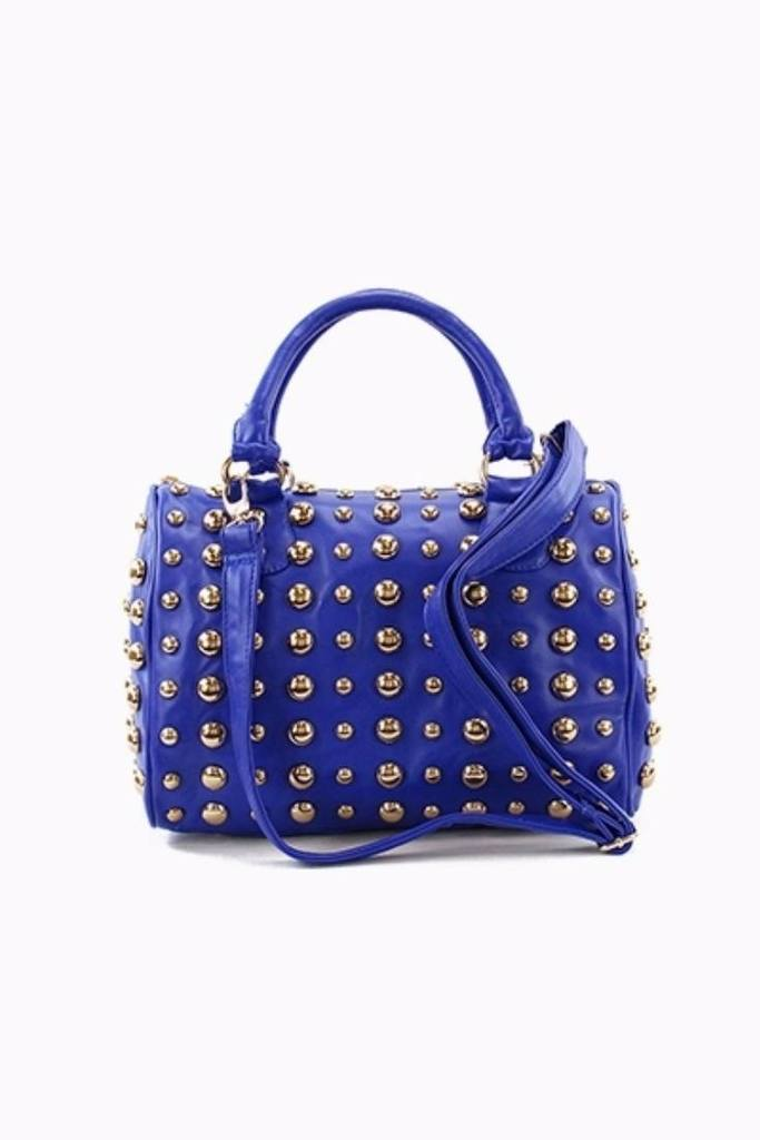 New Womens    Studded Top Handle Tote