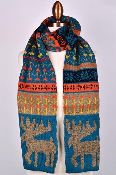 New     Winter Elk Scarf