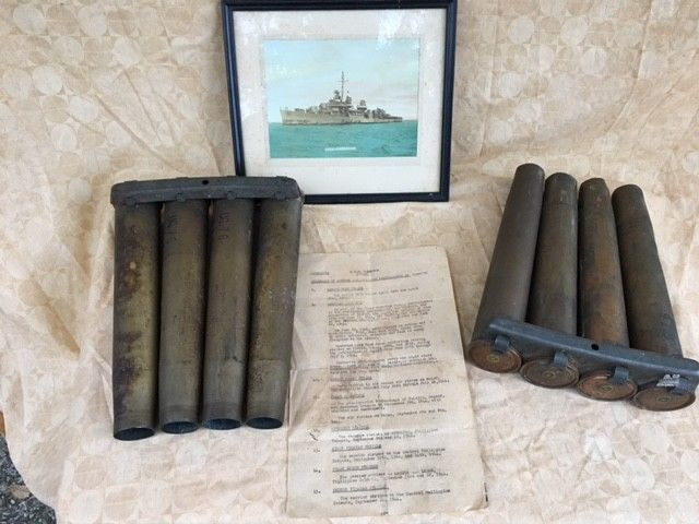 Used  1945 Military WWII WWII US Navy Artifacts From USS ...