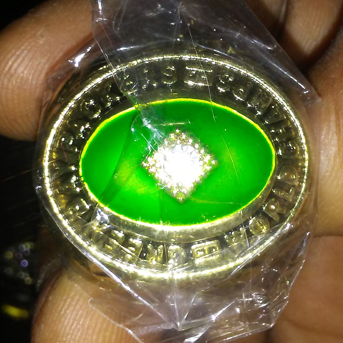 New Mens    Green Bay Packers World Champs Ring Replica 1