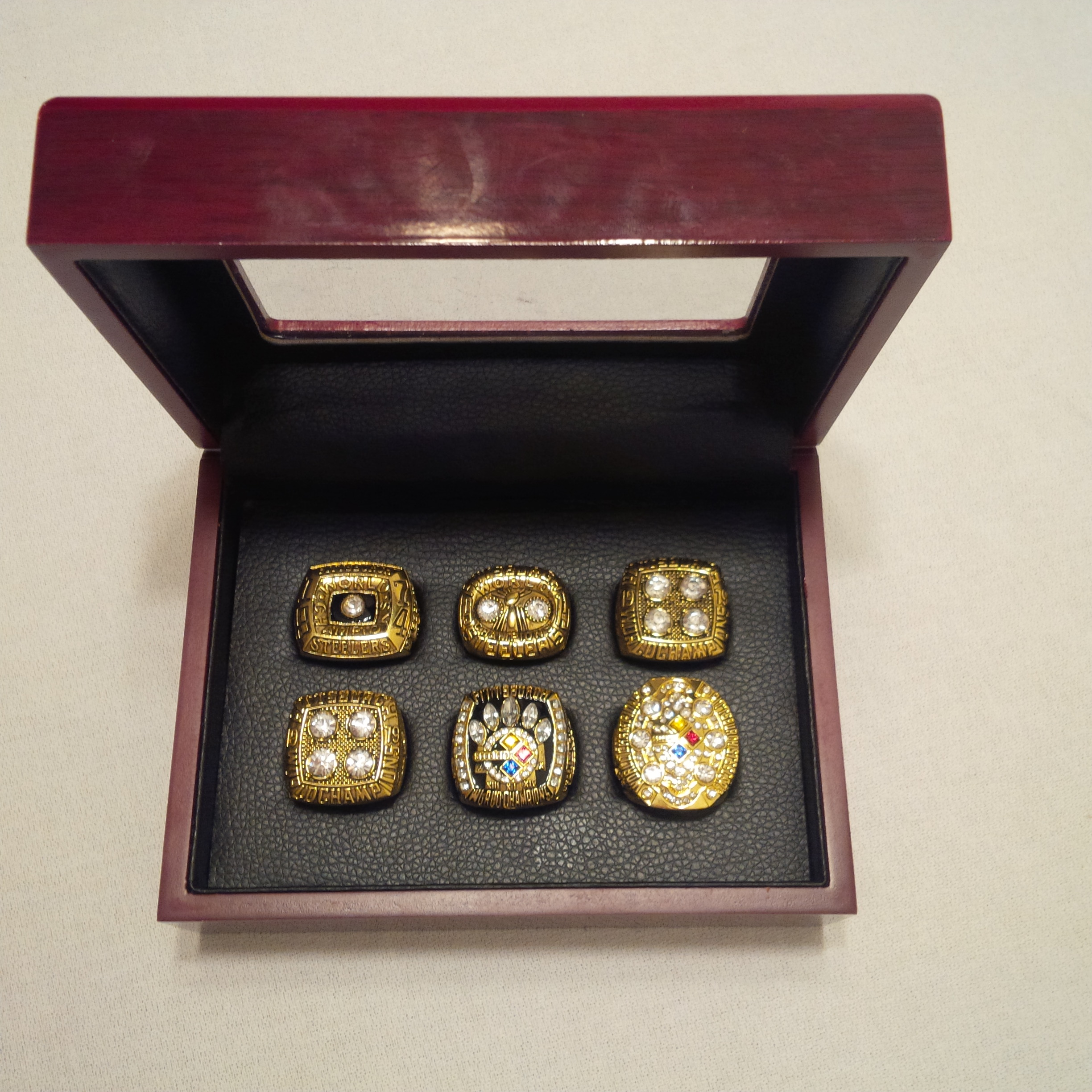 New Mens    Set of 6 Collectible Gold Pittsburgh Steelers...