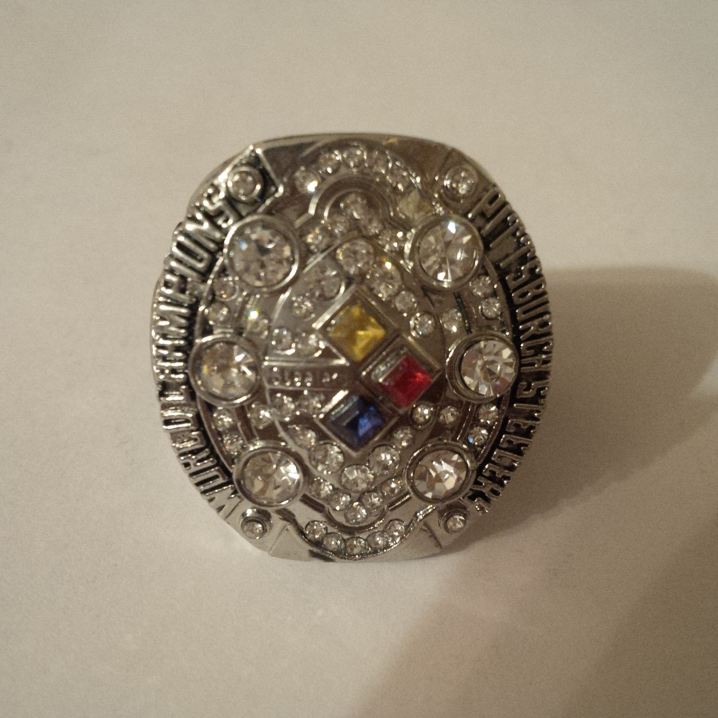 New     Silver Pittsburgh Steelers 2008 Superbowl Ring Re...