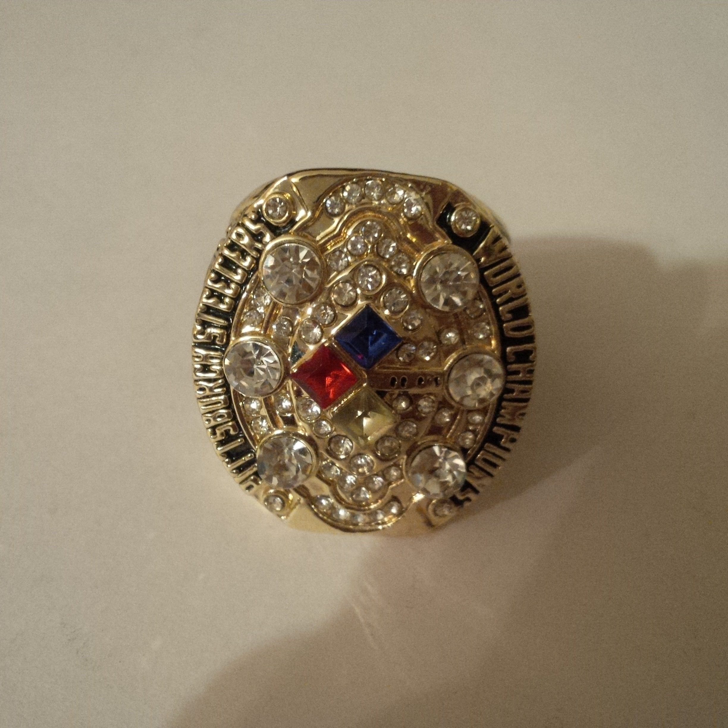 New Mens    Gold Pittsburgh Steelers 2008 Superbowl Ring ...
